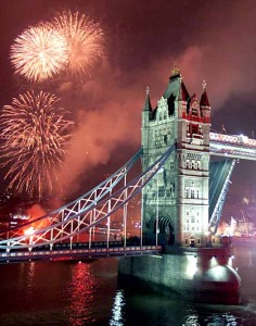 Fireworks in London, England
