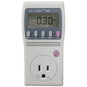 An electricty usage monitor can help you find wasted power.