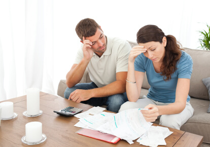 Couple worried about handling finances in marriage