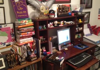 Hank Coleman's Desk in Home Office