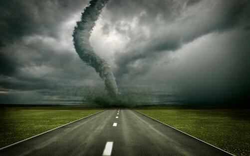 Incoming tornado