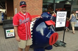 Atlanta Braves piggy bank at Turner Field