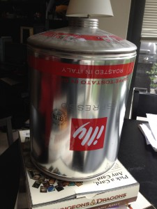 Old illy espresso container