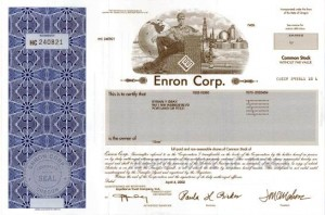 Enron stock certificates are great for eBay arbitrage