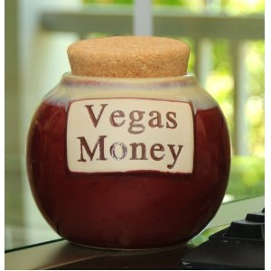 My Vegas casino money coin jar to help me save