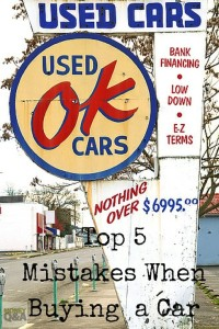 Mistakes when buying a car