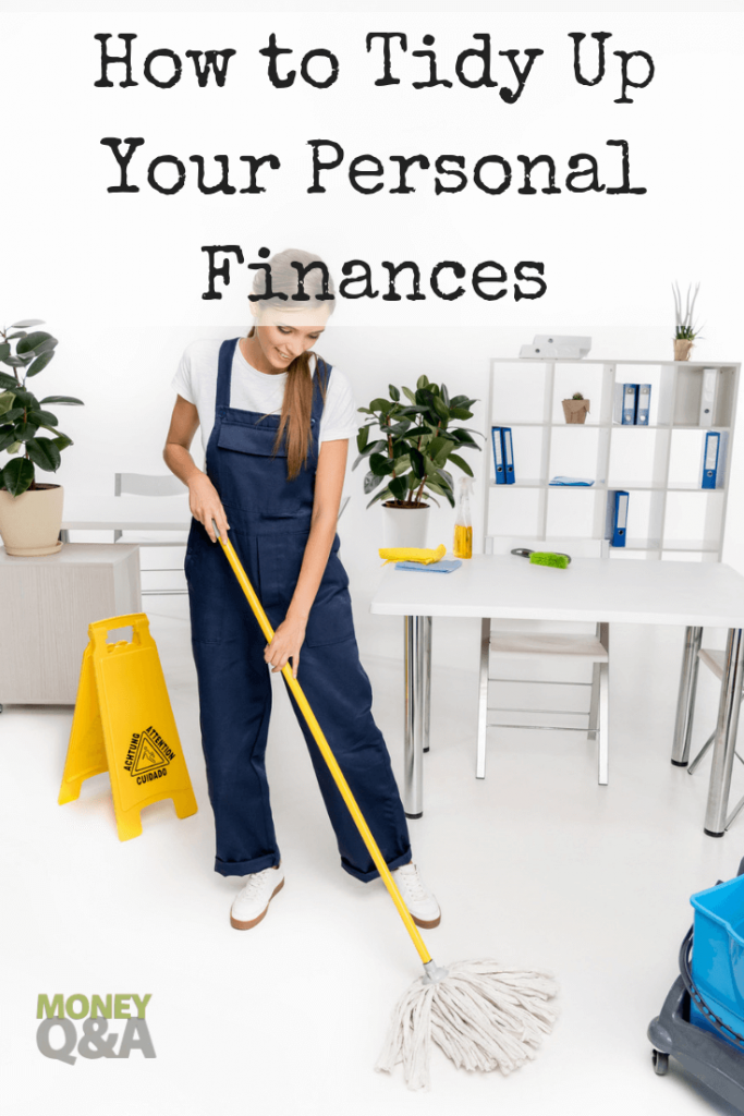 tidying up finances like Marie Kondo